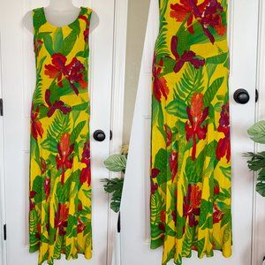 VIntage CAROLE LITTLE spring summer maxi dress